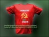 NAKOSI ZABEI Cannabis Russian T-Shirt Embroidered Hammer Sickle