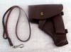 Genune Soviet Army Makarov Pistol PM Leather Belt Holster BROWN