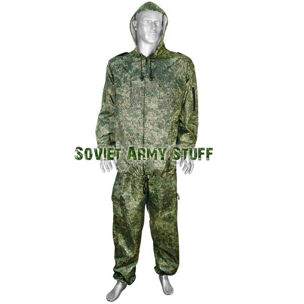 Wind & Waterproof Uniform Camo Suit Russian Army Digital Flora Pattern camo cagoule