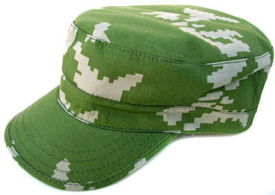 Russian Military Spetsnaz Uniform Camo Cap Hat Beryozka KLMK green-white