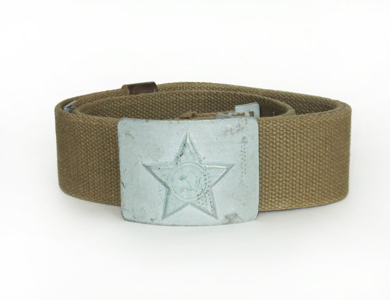 Original Soviet Russian Army Uniform Belt with Buckle Surplus
